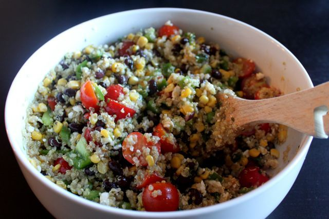 Southwest Quinoa Salad: great as an entree or a side with the perfect amount of fresh lime.