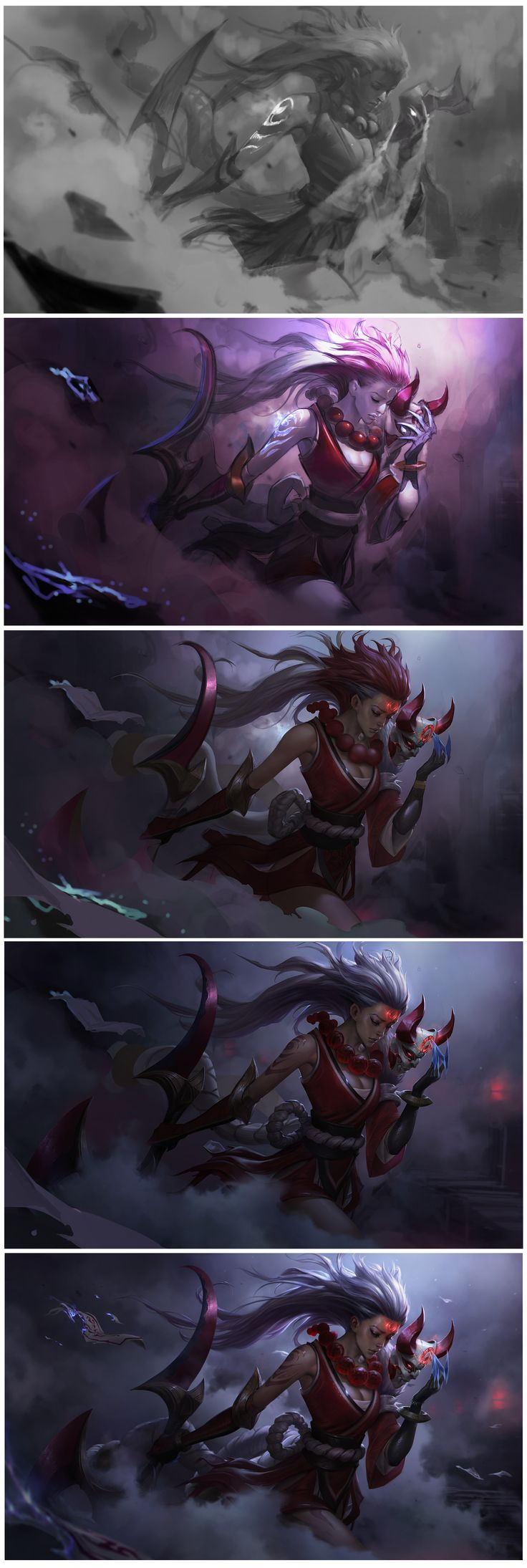 ArtStation - Blood Moon Diana for League of Legends, Chengwei Pan