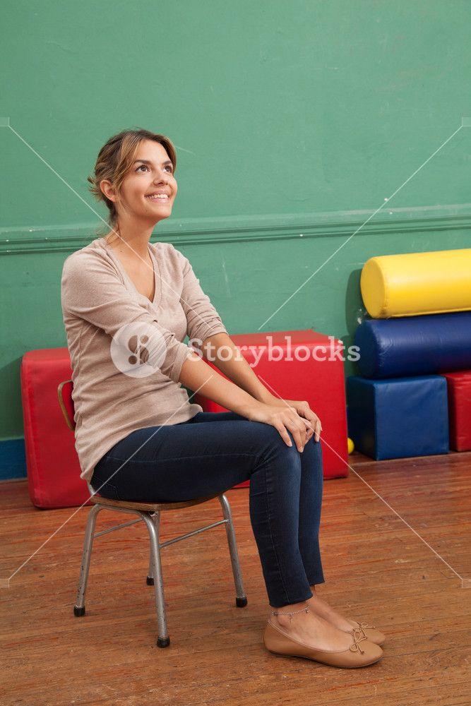 Portrait Of A Kindergarten Teacher Royalty Free Stock Image