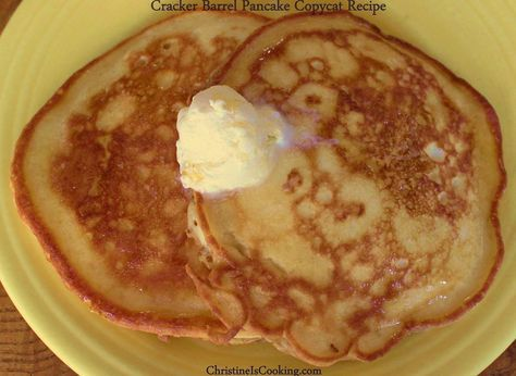 """A """"copycat"""" version of the Cracker Barrel pancake recipe (because those are THE BEST PANCAKES EVER)."""