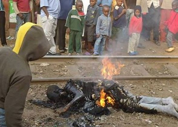 Burning bodies in Uganda, I thought of this from the scenario 3 - grainne