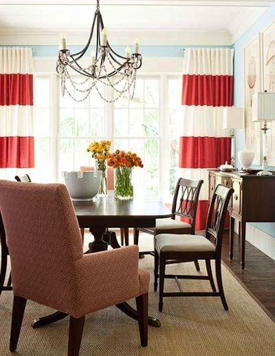 Red Dining Room Curtains 106 best curtains galore & diy curtains images on pinterest