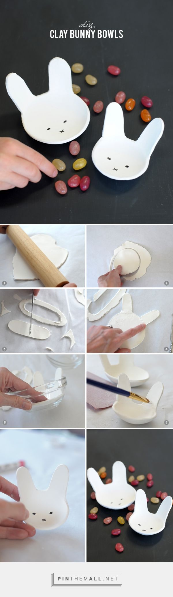 DIY Clay Bunny Bowls - created on 2015-03-26 19:17:36