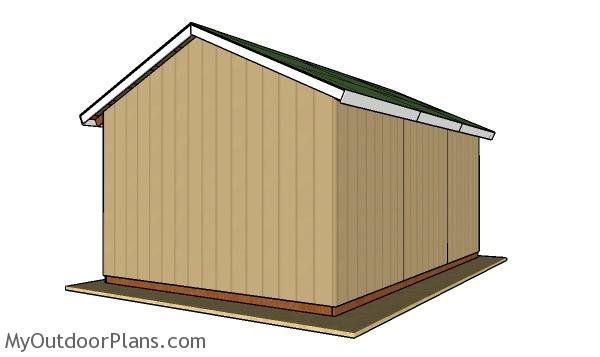 16 24 Pole Barn Roof Plans Barn Roof Woodworking Plans Free Pole Barn Plans