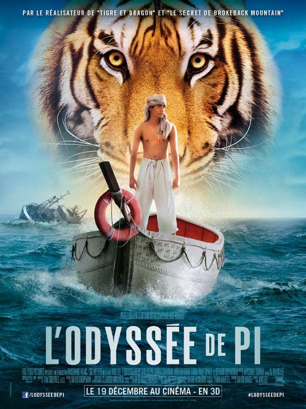 L'Odyssée de Pi est un film de Ang Lee avec Suraj Sharma, Irrfan Khan. Synopsis : Après une enfance passée à Pondichéry en Inde, Pi Patel, 17 ans, embarque avec sa famille pour le Canada où l'attend une nouvelle vie. Mais son destin
