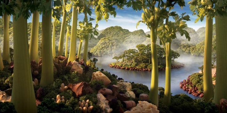 Фантастические пейзажи из обычной еды