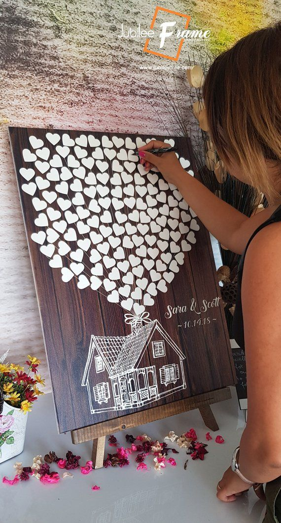Alternative guest book Up House Disney Theme Wedding Guest Book , Alternative Guestbook, Wedding, Bridal Shower, Sign in, hearts, Up Movie