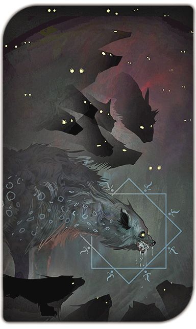 Dragon Age Inquisition Tarot.  Pinned for the concept of predator vs prey (and the fact that I have a soft spot for DA.)