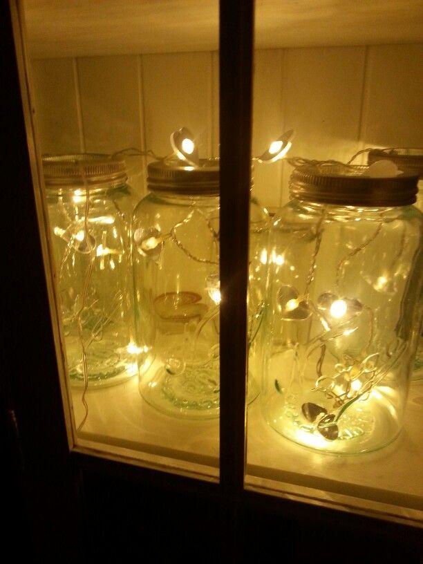 Norgesglass med lune lys. Jul ♡