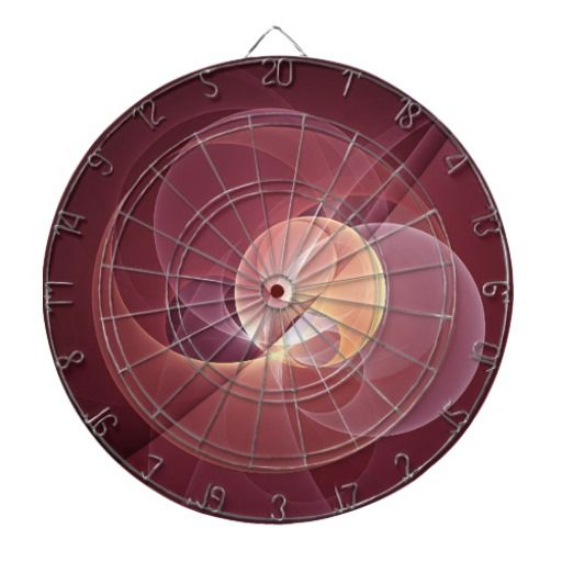 Movement Abstract and Modern Fractal Art Dartboard With Darts