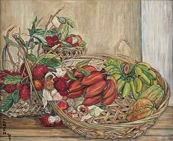 Still Life with Tropical Fruits Georgette Chen