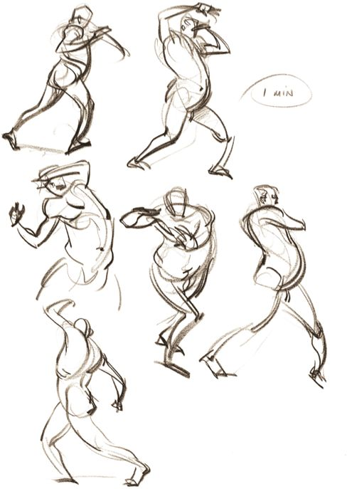 #FigureDrawing with FORCE. To learn more about FORCE and how to use it to add dynamism to your work, visit:  http://www.drawingforce.com/index.cfm/store/
