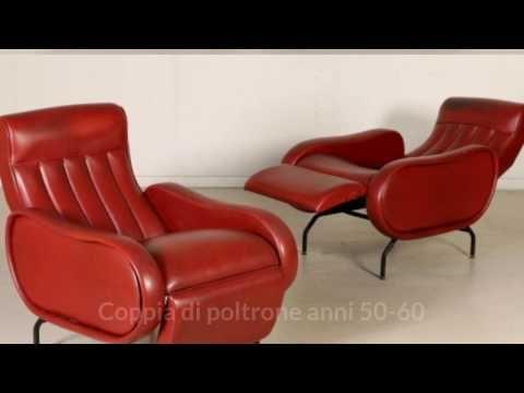 Coppia di Poltrone vintage anni 50-60 - YouTube