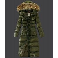 Cheap Moncler Down Coat Featured Women Slim Windproof Army Green Jackets  Outlet Online UK Sale.