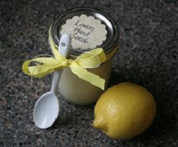 Lemon hand scrub for soft hands and shiny nails! Gotta try this!!