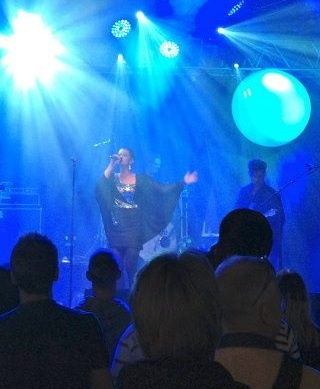 "Panamah playing at Skanderborg Festival. Amalie is in ""the mirror mosaic dress"". 2012"