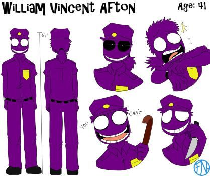 William Vincent Afton Reference Sheet by FNAFNations