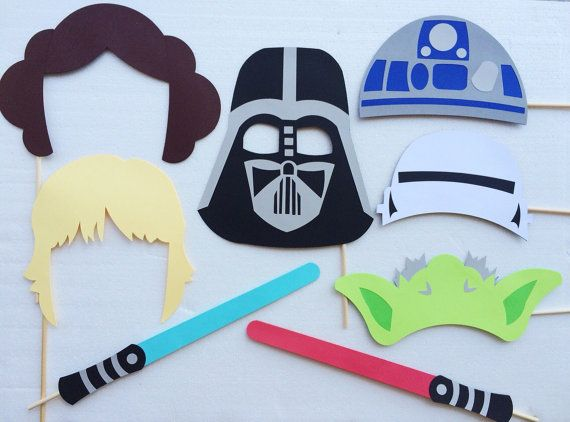 Disney Star Wars Photo Booth Props  Star Wars Birthday Party