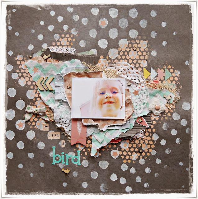 Layout - I'm like a bird, hobbykrokenmiin, Ragnhild Kleiven