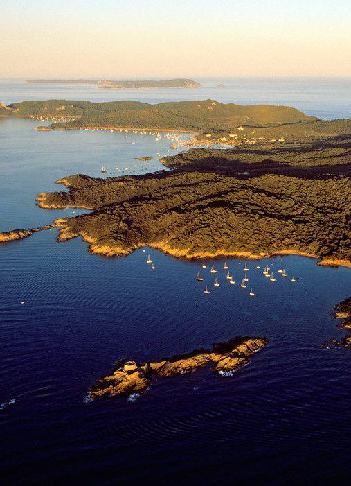 An aerial view of Île de Porquerolles