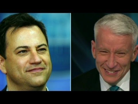 CNN's Anderson Cooper responds to Jimmy Kimmel's theory that when the CNN anchor giggles he must be high.