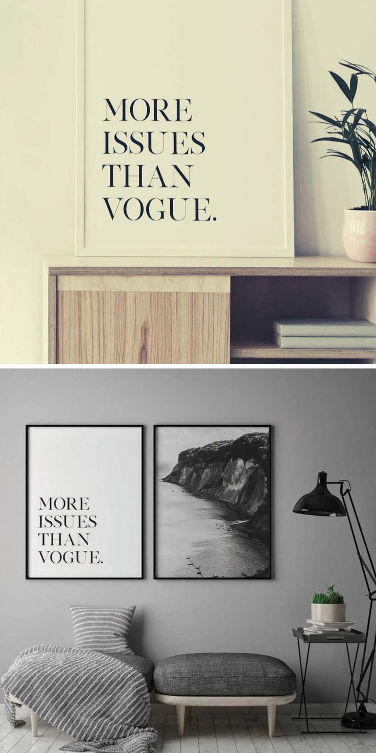 More Issues Than Vogue Poster Diy Wall Decor Wall Art Prints