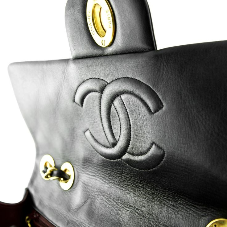 Chanel Black Quilted Lambskin XL Jumbo Flap Bag