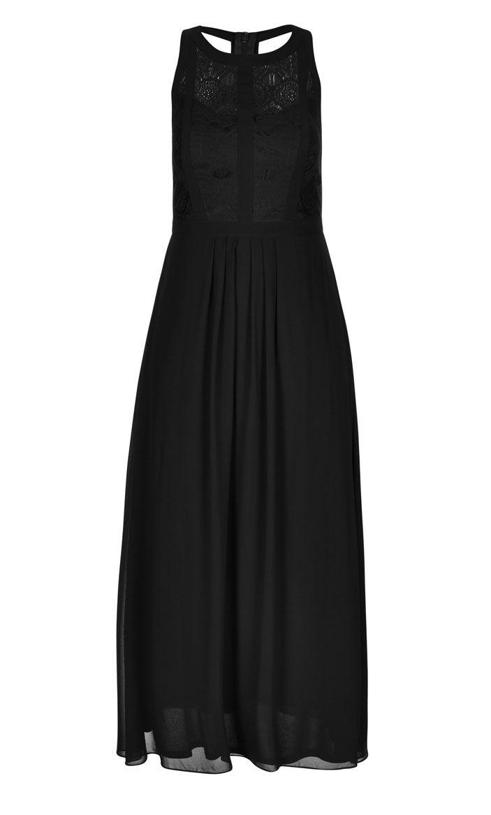 City Chic - PANELLED BODICE MAXI DRESS - Women's Plus Size Fashion