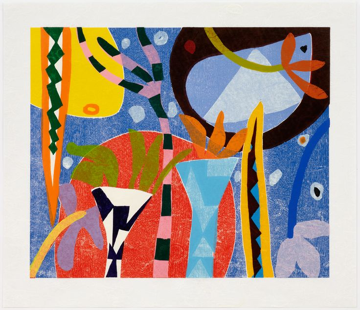 Gillian Ayres.   I don't know anything about her (yet) but I just love the colours she puts together...