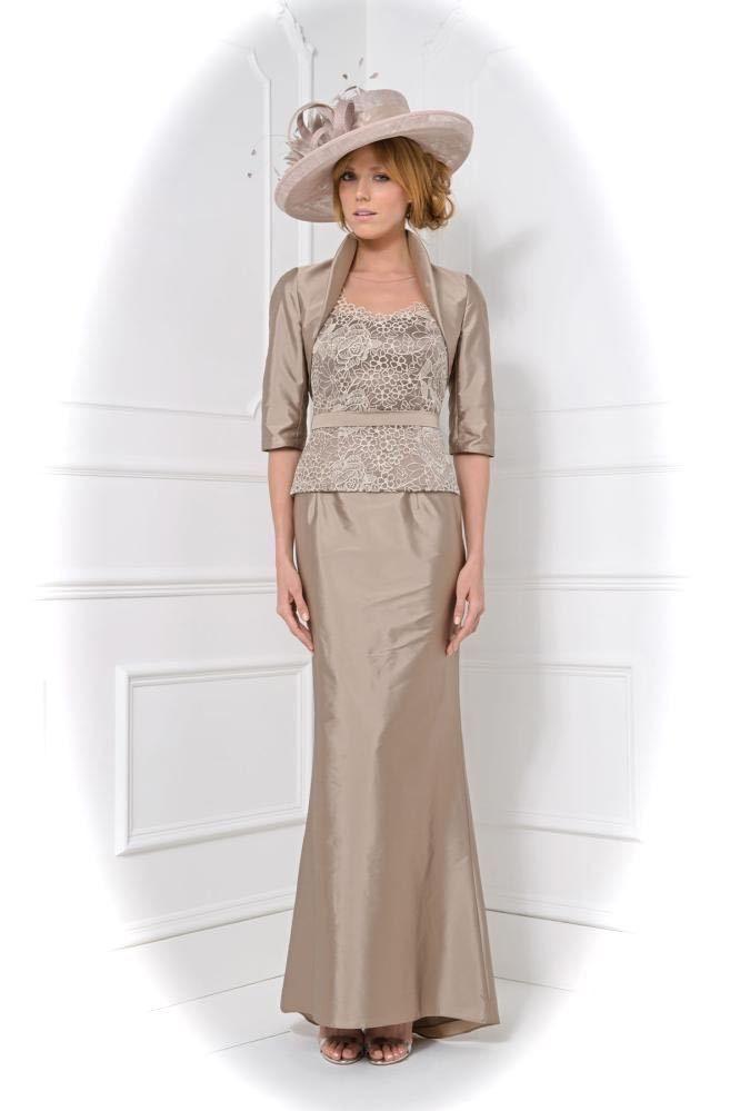 John Charles 25821 Jacket, Camisole & Skirt, UK12, Mocha, RRP £779