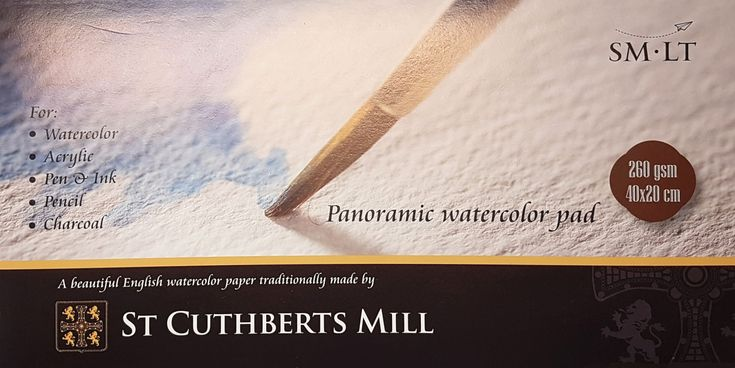 St. Cuthberts Mill akvarellipaperilehtiö panoramic 40x20 cm - Watercolor paper pad, panoramic. #akvarellipaperi