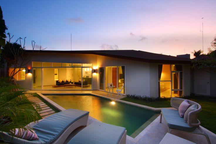 Unik Villa, in Brawa Bali, night view, roof