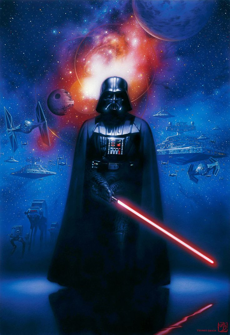 DARTH VADER | STAR WARS ORIGINAL ART | SANDAWORLD.COM | The Art of TSUNEO SANDA