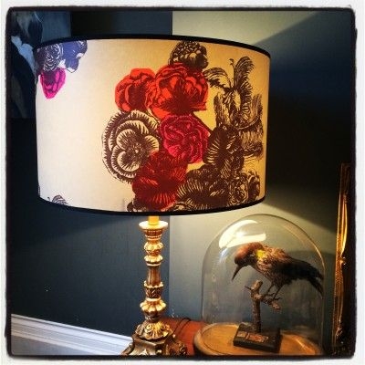vintage wallpaper lampshades by #lovefrankie