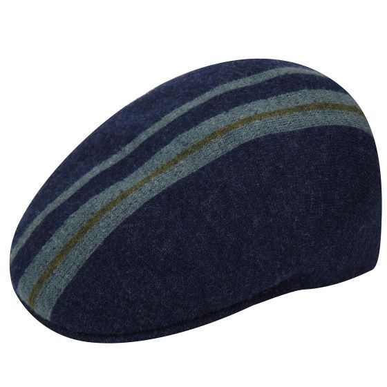 c372432f3c3020 The Identity Stripe 504 by Kangol is a seamless knit 504 cap made from a  wool blend and felted to create the blurred effect. The yarn has a m