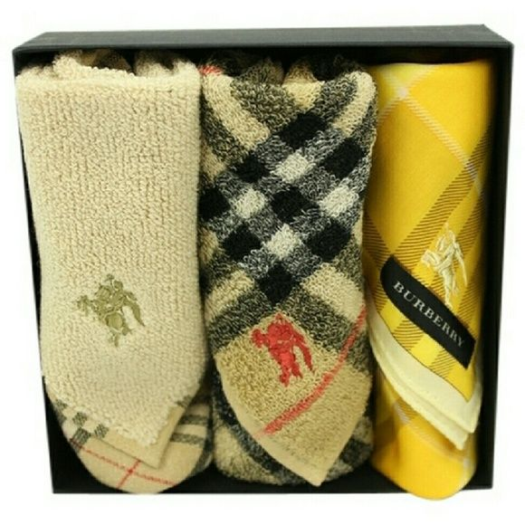 """""""BURBERRY  Towels & HandkerchiefsBG-#6144928"""" Burberry handkerchiefs, comes with original box. No signs of wear. See photos for more detail . Burberry Other"""