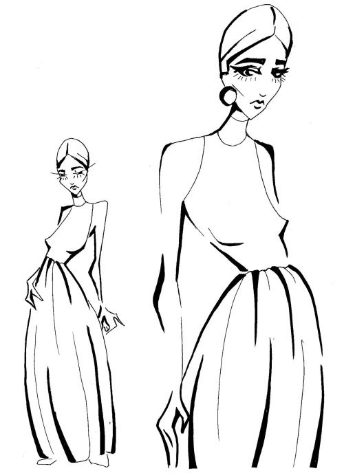 Fashion sketches by LV (arctiumstudio)