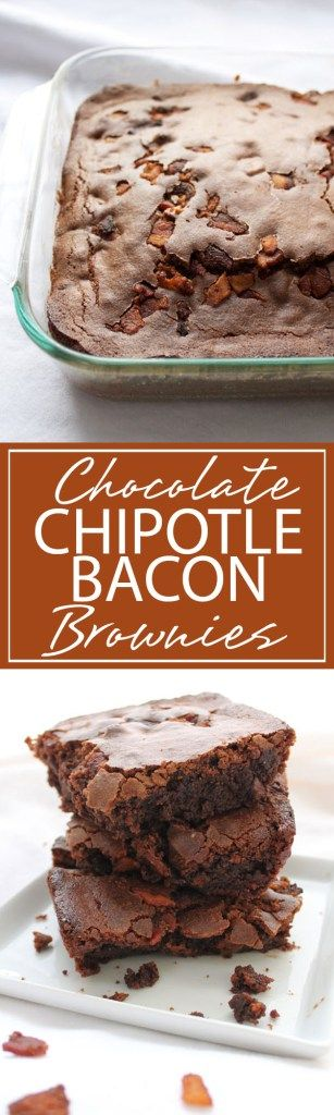 Chocolate Chipotle Bacon Brownies | A succulent mix of Chocolate, Chipotle, and Bacon in a square. These brownies are sure to have you screaming for seconds | forkknifeandlove.com