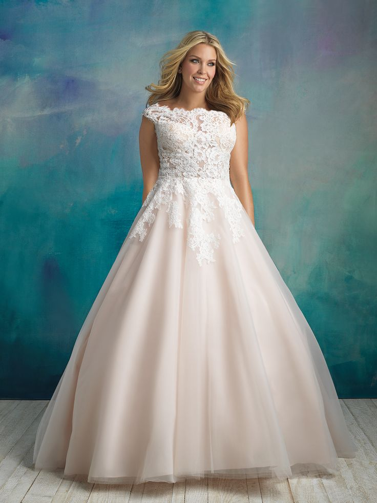 Allure bridal style W419. Available in sizes 16W-32W. Stock size 22W