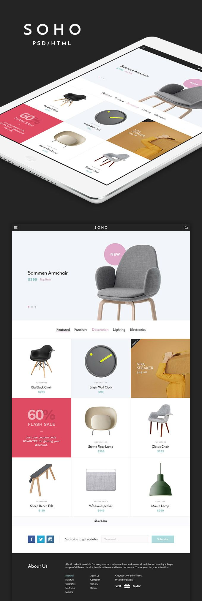 14 best images about free e commerce web template psd on pinterest icons user interface for Pinterest template psd