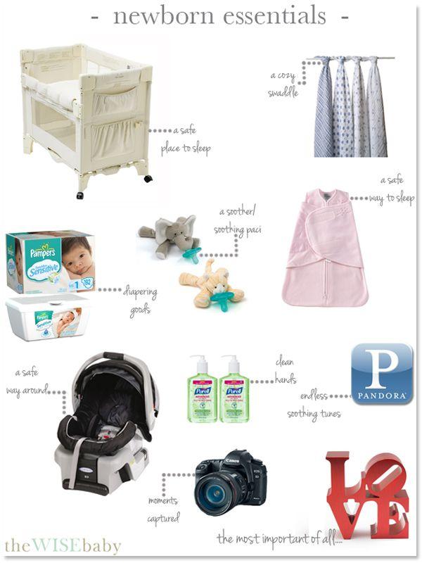 Cosas esenciales que necesitas para un recién nacido.   www.thewisebaby.com