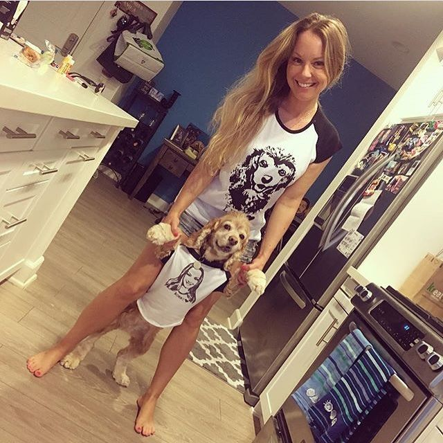 This Mommy ❤️ her Puppy and Puppy ❤️ her Mommy. We've made custom t-shirts for them 😉    #monofaces