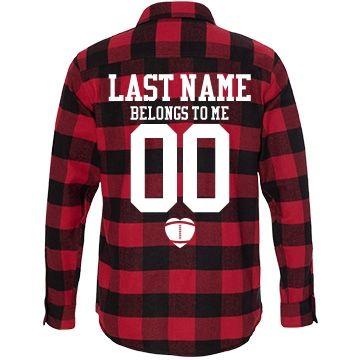 custom football girlfriend fall fashion flannel shirts - Football T Shirt Design Ideas