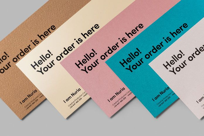 All the printed matters communicate a friendly message.