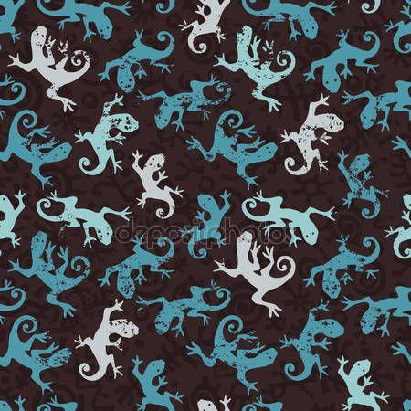 Скачать - Бирюзовый саламандры бесшовный фон — стоковая иллюстрация #44983081