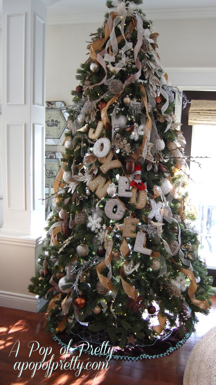 how to add ribbon to a christmas tree trees christmas trees and christmas. Black Bedroom Furniture Sets. Home Design Ideas