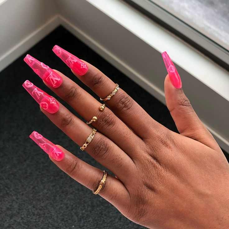 Louis Pink Jellies In 2019 Jelly Nails Gorgeous Nails Coffin Nails
