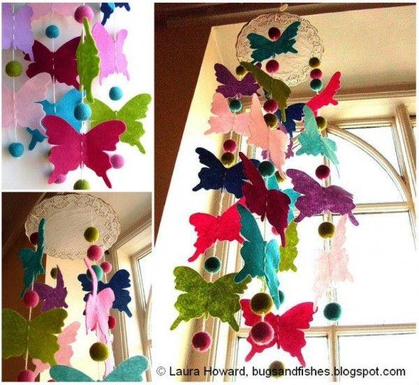 Butterfly Chandelier Mobile DIY Tutorial