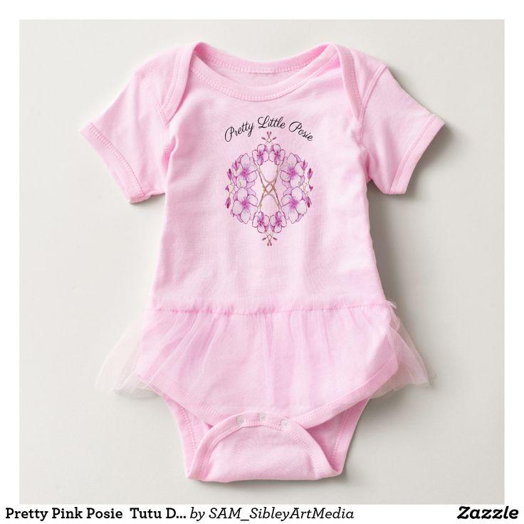 Pretty Pink Posie  Tutu Dress  For Baby Girl