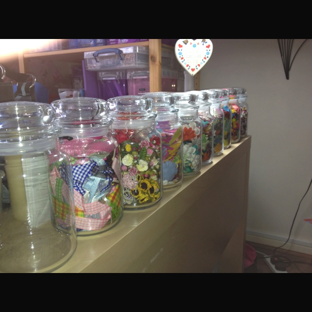 Recycled Yankee candle jars.